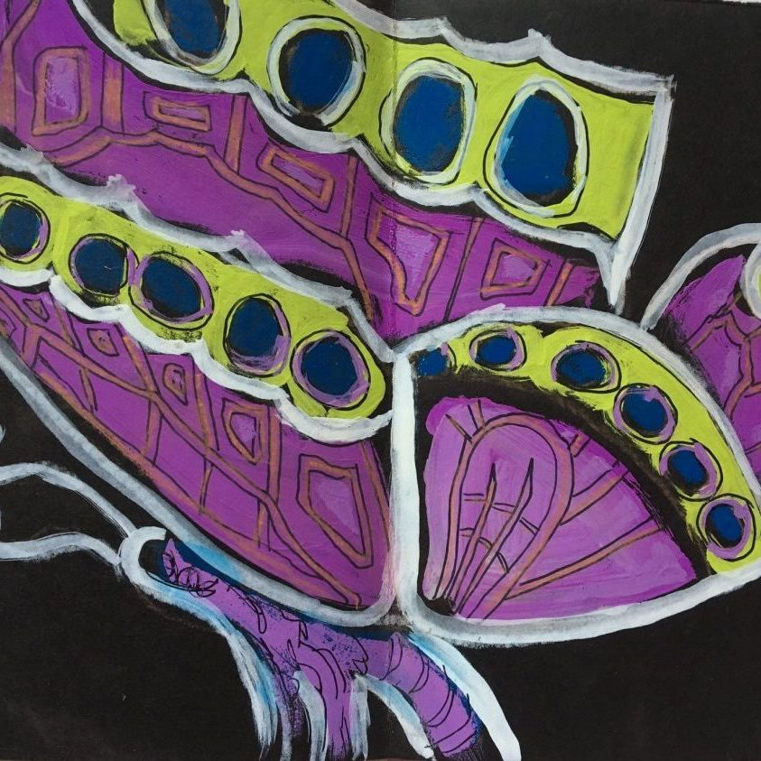 Butterfly drawing by Christi