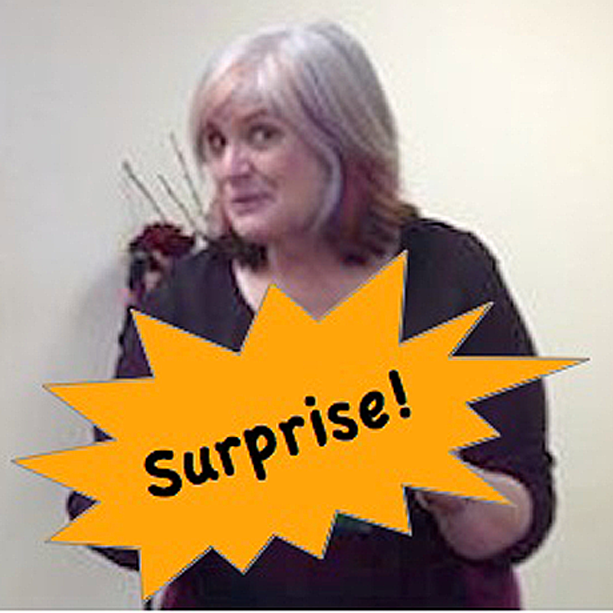 Christi with surprise