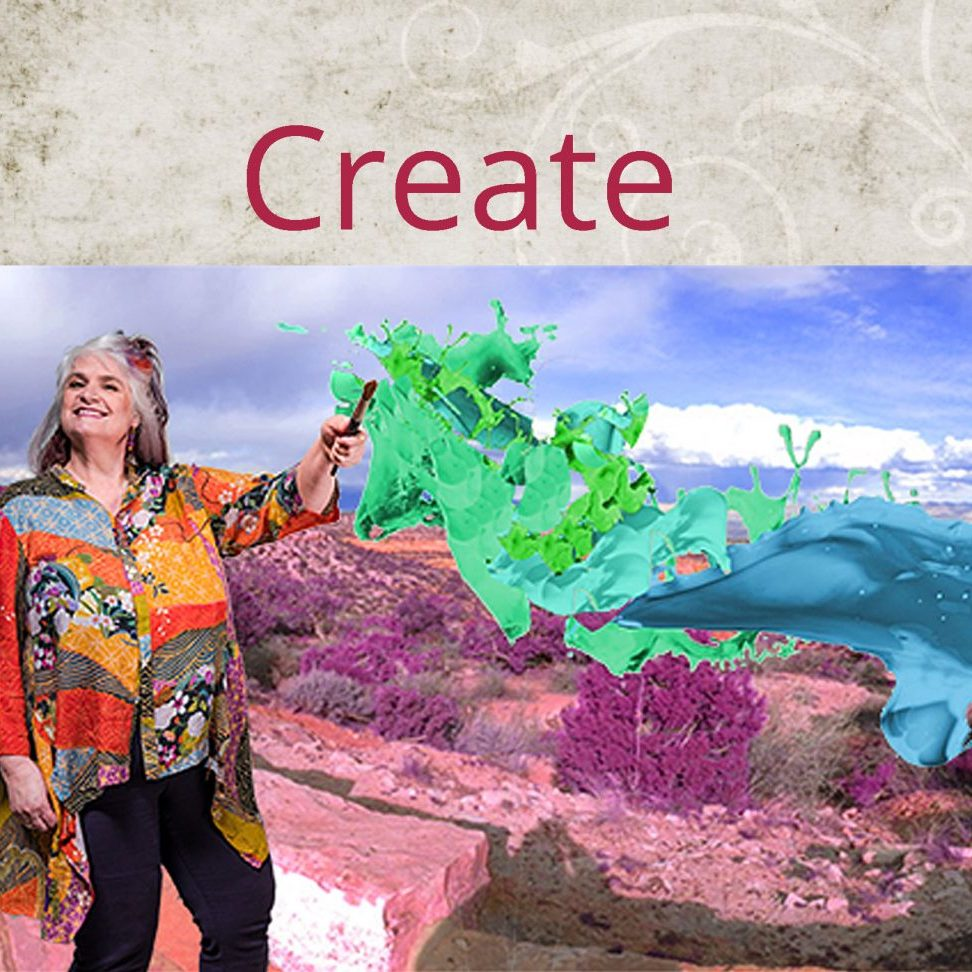 Create image w Christi and paint splash