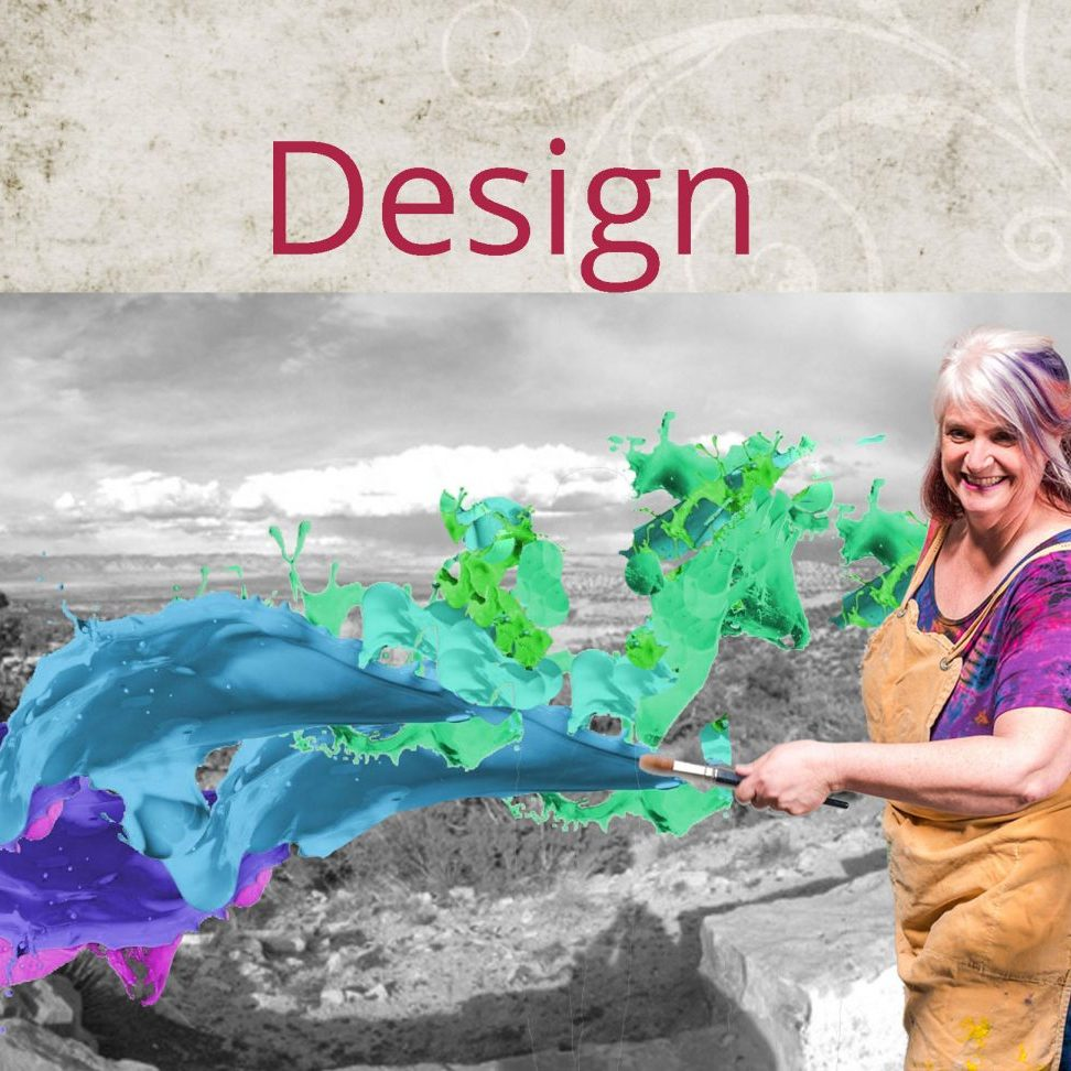Design image w Christi and paint splash
